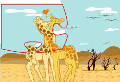Игра Влюбленные жирафы