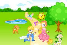Игра Сказка про принца и принцессу