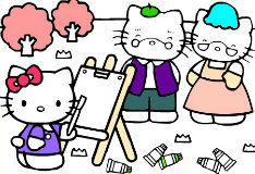 Игра Hello Kitty Painting