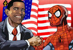 ���� ���� ������ :: ������� ���� :: Obama and Spiderman