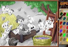 Игра Игра 101 далматинец: Раскрась животных