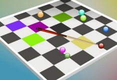 Игра Бильярд  на шашках