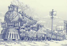 Бумажный поезд