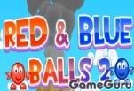 Красный и синий шар