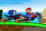 Игра Марио против Соника: гонка