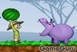 Игра Накорми бегемотов