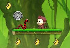 Игра Прыгаем за бананами