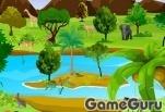 Игра Найди зверей в джунглях