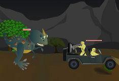 Игра Побег от динозавров