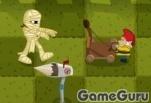 Игра Монстры на лужайке