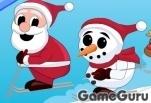 Игра Санта на лыжах