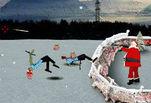 Играть бесплатно в Санта убивает Зомби 2