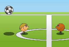 Игра Футбол на двоих головами
