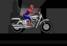 Игра про Человека паука мотоциклиста