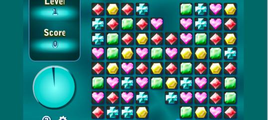 Игра Убрать драгоценные камни