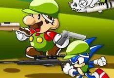 Игра Марио и Соник против Зомби