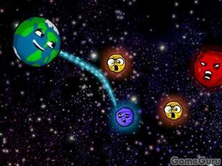 Игра Злые астероиды