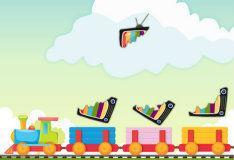 Игра Паззл - поезд