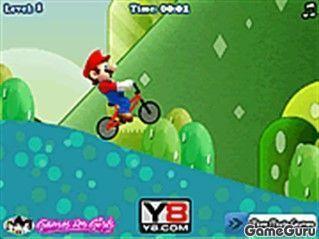 Игра Марио-мотоциклист