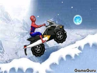 Игра Человек-паук на снегоходе