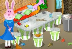 Игра Уборка в кроличьей норе