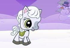 Игра Пони и снежинки