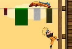 Наруто бежит по стене