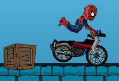 Игра Человек-паук на мотоцикле