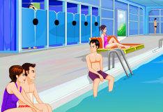 Игра Поцелуи возле бассейна