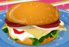 Вкусный гамбургер