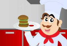 Игра Учимся готовить гамбургер