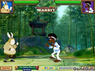 Игра Кунг фу кролик