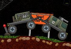 Игра Водитель военной машины спасателей