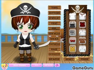 Игра Пиратская одевалка