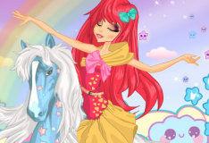 Игра Прекрасная наездница гордого коня