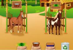 Игра Уход за лошадками