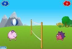 На двоих: волейбол