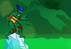 Игра Черепашка-ниндзя на болоте