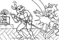 Раскраска: Битва с Бибопом