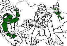 Раскраска: Битва с Шредером