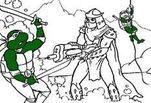 Игра Раскраска: Битва с Шредером