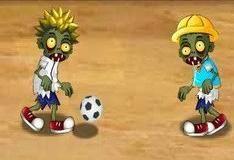 Игра Зомби пинают мяч