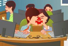 Поцелуй на рабочем месте