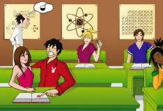 Поцелуй на уроке химии