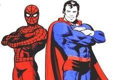 Игра Человек-паук и Супермен: раскраска