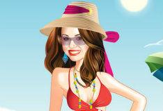 Игра Ханна Монтана на пляже