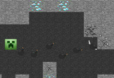 Игра Майнкрафт: Стрелялка Опасный крипер