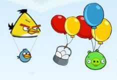 Игра Злые птички и плохие свинки в воздухе