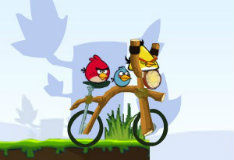 Игра Злые птички на байке