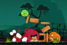 Игра Хэллоуин злых птичек